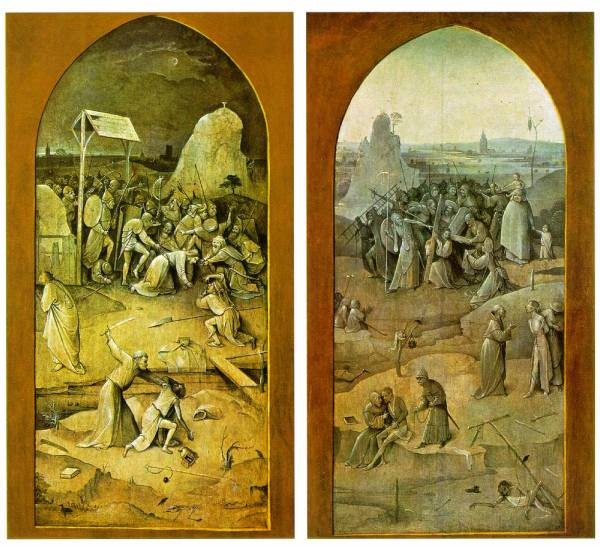 Temptation of St Anthony outer wings of the triptych WGA